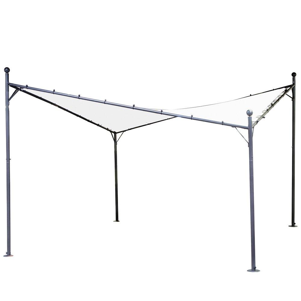 Siena Garden 120399 Pavillon Berlino, 4 x 4 m, Stahlgestell grau, Polyester weiß online bestellen