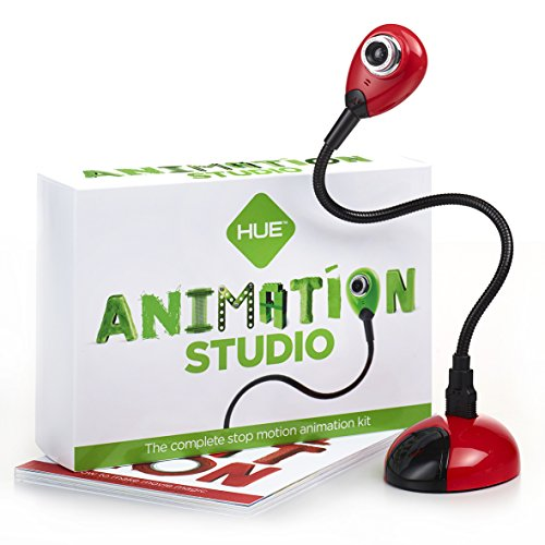 HUE Animation Studio (Red) for Windows PCs and Apple Mac OS X: complete stop motion animation kit with camera, software and book (Stop Motion Animation Software compare prices)