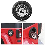 RT-TCZ Fuel Filler Door Cover Gas Cap Exterior Accessories For Jeep Wrangler JK & Unlimited 2007-2017(Jeep Logo)