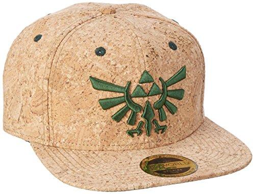 The Legend of Zelda Snap Back Cap Triforce Logo Cork Bioworld Nintendo Berretti Cappelli