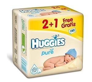 OFFRE 2+1 GRATUIT : 192 Lingettes Pure en fibres naturelles à l'Aloé Vera et Vitamine E