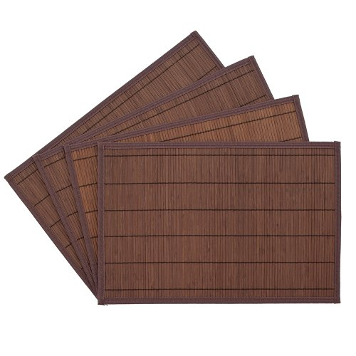 Benson Mills Bali Bamboo Placemats, Chocolate, Set of 4