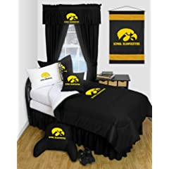 Iowa Hawkeyes QUEEN Size 12 Pc Bedding Set - Locker Room - (Comforter, 2 Pillow... by Sports Coverage