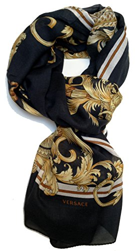 Versace Collection Women cashmere Scarf Shawl Made Italy in BOX sciarpa foulard donna