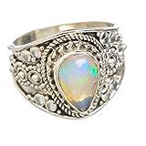 Ethiopian Opal, Opale Éthiopienne Argent Sterling 925 Bague 6
