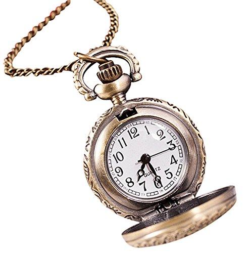Sannysis® Vintage retrò catena del bronzo di tasca del quarzo del pendente della vigilanza