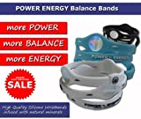 Power Balance Sports Bracelet Hologram Wristband in Black with White Lettering (Medium)