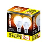 Amazon.co.jpSTYLED LED電球 E17口金 2個入り 小形電球タイプ 4.8W 440lm (電球色相当・密閉器具対応・小形電球40W相当) LA35N40L1P2