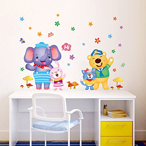Japace lindo animales pegatina de pared vinilo adhesivo for Pegatinas para dormitorios