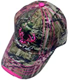 Camo Cutie Cap,Mossy Oak Camo Cap with pink Trim and logo