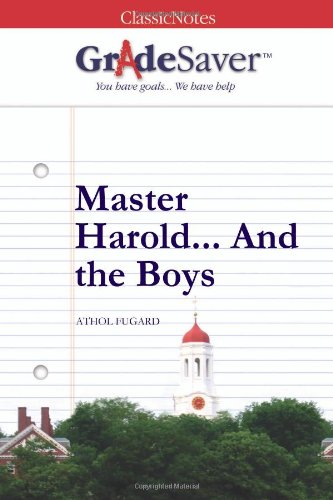 master harold and the boys essays gradesaver master harold and the boys athol fugard