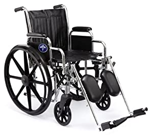 Medline Excel 2000 Swing Away Foot Wheelchairs, 18 Inch