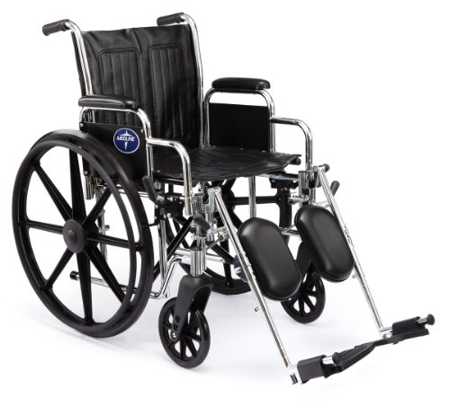 Medline Excel 2000 Swing Away Foot Wheelchairs, 18 Inch