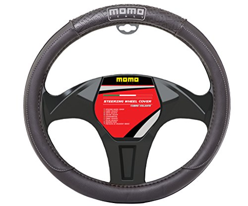 MOMO High Performance Steering Wheel Cover- Black & Gray Exclusive Design (Italy Steering Wheel Cover compare prices)