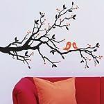 BestOfferBuy Dekorative Fenster Wand Aufkleber Sticker Turteltauben auf Baum Dekor JM7051