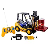WolVol 6 Channel Electric Rc Remote Control Full Functional Forklift Toy With Lights, Pallet And Bar