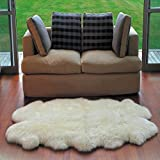 Amazon Com Genuine Sheepskin Rug Four Pelt Natural White