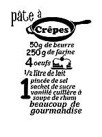 ZZ-Ambiance-sticker Vinilo Decorativo French Recipe Pâte À Crêpes