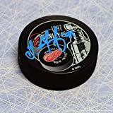 Autographed Sergei Fedorov Detroit Red Wings 1997 Stanley Cup Puck - Signed NHL Pucks