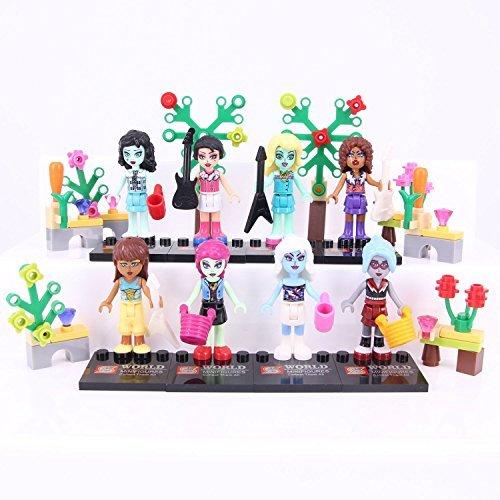 MONSTER New HIGH School Fashion 8 Minifigure Dolls Set Girls Blocks Clawdeen (Monster High Girl Names)