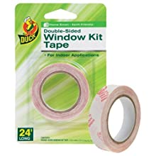 Duck Brand 1285360 Double-Sided Indoor Replacement Tape for Window Kits, 0.5-Inch by 24-Feet, Single Roll
