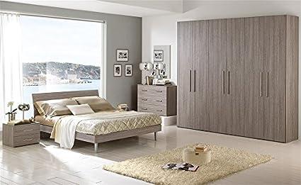 Camera da letto moderna larice