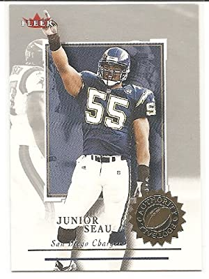 Junior Seau 2001 Fleer Authority San Diego Chargers Card #87