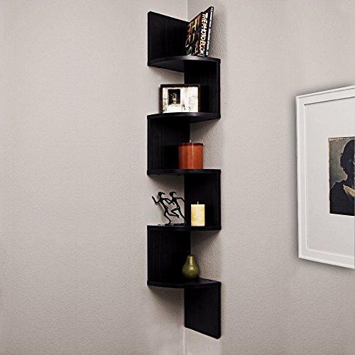 A10 Shop Alpha Corner Wall Mount Shelf Unit Zigzag Shape -Wenge finish  available at amazon for Rs.1089