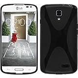 Custodia in Silicone per LG F70 - X-Style nero - Cover PhoneNatic + pellicola protettiva