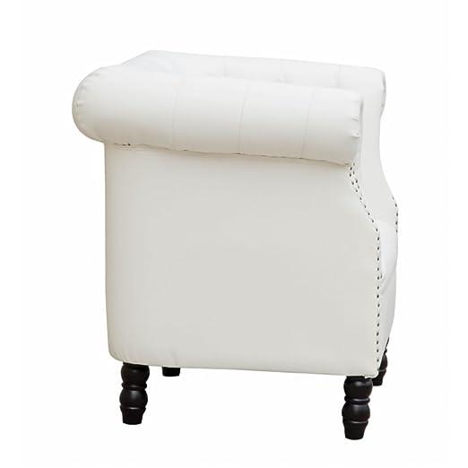 Fine Mod Imports Chester Sofa, White