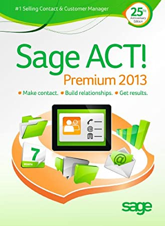 Sage ACT! Premium 2013 Upgrade - Includes 1 hour ACT! 101 training webinar held weekly