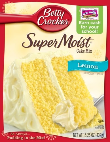 Betty Crocker Supermoist Cake Mix, Lemon, 15.25-Ounce (Pack of 6)