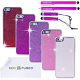 iPhone 5 Case Bundle including 5 Bling Hard Cases for Apple iPhone 5 /4 Stylus Pens / 2 Screen Protectors / 1 ECO-FUSED&reg Microfiber Cleaning Cloth