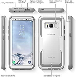 i-Blason Armorbox Series Case for Galaxy S8+ Plus,  Full body   Heavy Duty  Shock Reduction / Bumper Case WITHOUT Screen Protector for Samsung Galaxy S8 Plus 2017 Release (White) (Color: White)