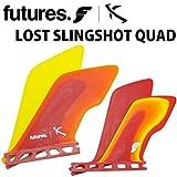 ショートボード用フィン FUTURE FIN フューチャーフィン LOST SLINGSHOT QUAD クアッド FIBER GLASS 4フィン サーフィン 【火曜日発送不可】