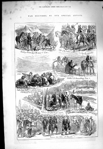 1877 War Russian Spies Shumla Pasha Turkish Soldiers