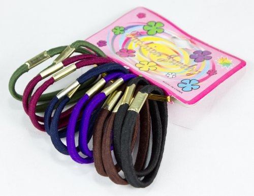 Starlite 6cmPack of 12 Pony Tail Hair Band Ties Various Colours HC681322-FREE SHIPPING