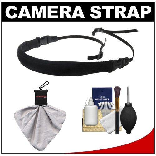 Op/Tech Usa Envy Camera Strap + Accessory Kit For Canon Rebel Xsi, Xs, T1I, T2I, Eos 60D, 50D, 5D, 7D, Nikon D3000, D3100, D5000, D7000, D90, D300S, Olympus Evolt E-5, E-30, E-450, E-620 & Sony Alpha A290, A390, A500, A33, A55, A550 Digital Slr Cameras