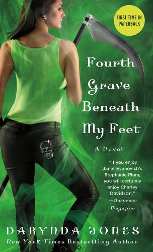 Cover image of Fourth Grave Beneath my Feet with a woman holding a scythe