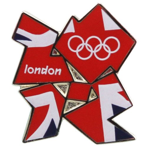 Summer London Olympics 2012 Union Jack Flag Emblem Collector Pin