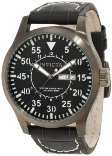 Invicta Men's 11204 Specialty Grey Dial Grey Leather Watch