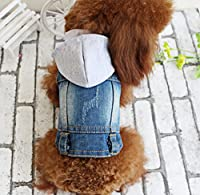 OSPet Pet Dog Cat Soft Jean Denim Puppy Coat Jacket Clothes Doggy Apparel XS-XL