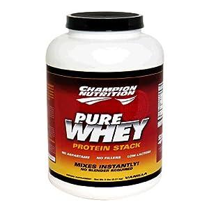 Champion Nutrition Pure Whey Protein Stack, Vanilla, 5-Pound Plastic Jar