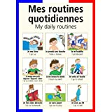 A3 homemade* French poster teaching aid / classroom resources - My daily routines/Mes routines quotidiennes (supplied folded to A4, NOT laminated)by 123 Web Art