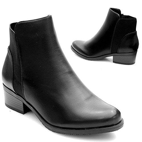 Kayla shoes Damen Biker Boots Winterstiefel Stiefeletten K-8 Black 37