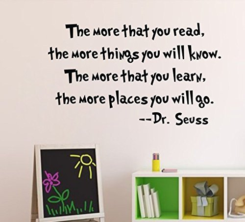 Colorfulhall The More You Read Dr Seuss Black 33*55Cm Wall Decal front-936626