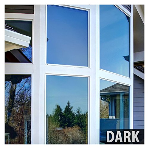 BDF PRBL Window Film Premium Color High Heat Control and Daytime Privacy Blue (36in X 7ft) (Mirror Tint For Windows compare prices)