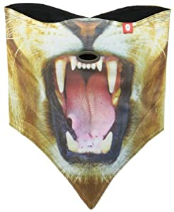 Airhole Cold Weather Face Mask, One Size, Lion