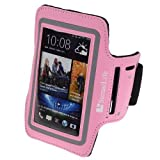 SumacLife Outdoor Sports Neoprene Armband Case Pouch For HTC ONE / ONE X / HTC ONE Mini (Pink)