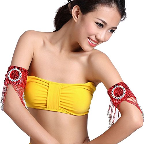 Danza del ventre Latin Dance Dance Sleeves Arm Cuff Chain With Sequin Bead